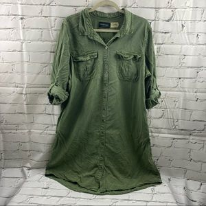 Parasuco army green jean dress